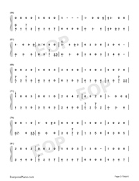 I Would Die for You-Miley Cyrus-Numbered-Musical-Notation-Preview-3