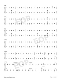 I Would Die for You-Miley Cyrus-Numbered-Musical-Notation-Preview-4