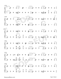 I Would Die for You-Miley Cyrus-Numbered-Musical-Notation-Preview-5