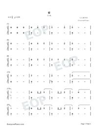 看-極簡版-延禧攻略主題曲雙手簡譜預覽1