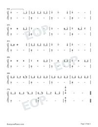 看-極簡版-延禧攻略主題曲雙手簡譜預覽3