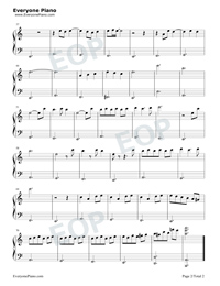 看-極簡版-延禧攻略主題曲五線譜預覽2