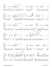 雪落下的聲音-好聽版-譜寫了富察容音悲慘的一生雙手簡譜預覽2