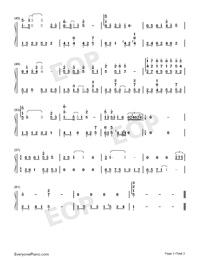 雪落下的聲音-好聽版-譜寫了富察容音悲慘的一生雙手簡譜預覽3