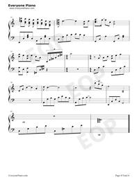 雪落下的聲音-好聽版-譜寫了富察容音悲慘的一生五線譜預覽4
