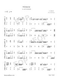 波羅涅茲舞曲 19-巴赫初級鋼琴曲集雙手簡譜預覽1