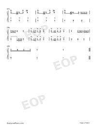 波羅涅茲舞曲 19-巴赫初級鋼琴曲集雙手簡譜預覽2
