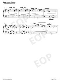 波羅涅茲舞曲 19-巴赫初級鋼琴曲集五線譜預覽2