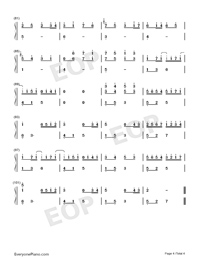 Canon Encounters River Flows In You-Perfect-Numbered-Musical-Notation-Preview-4