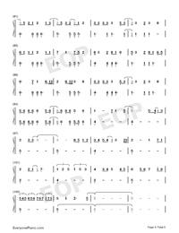 ガラスを割れ-欅坂46両手略譜プレビュー4