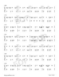 ガラスを割れ-欅坂46両手略譜プレビュー5