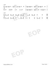 ガラスを割れ-欅坂46両手略譜プレビュー6