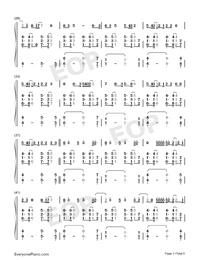 Breathin-Ariana Grande-Numbered-Musical-Notation-Preview-3