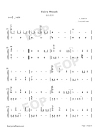 Fairy Wreath-FLOWERS OST-Numbered-Musical-Notation-Preview-1