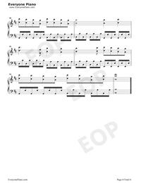 恋は戦争-初音ミク五線譜プレビュー6