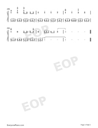 Canon in D-Concert Version Numbered Musical Notation Preview 3