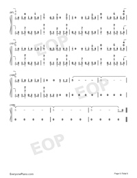 You Be Love-Avicii ft Billy Raffoul-Numbered-Musical-Notation-Preview-6