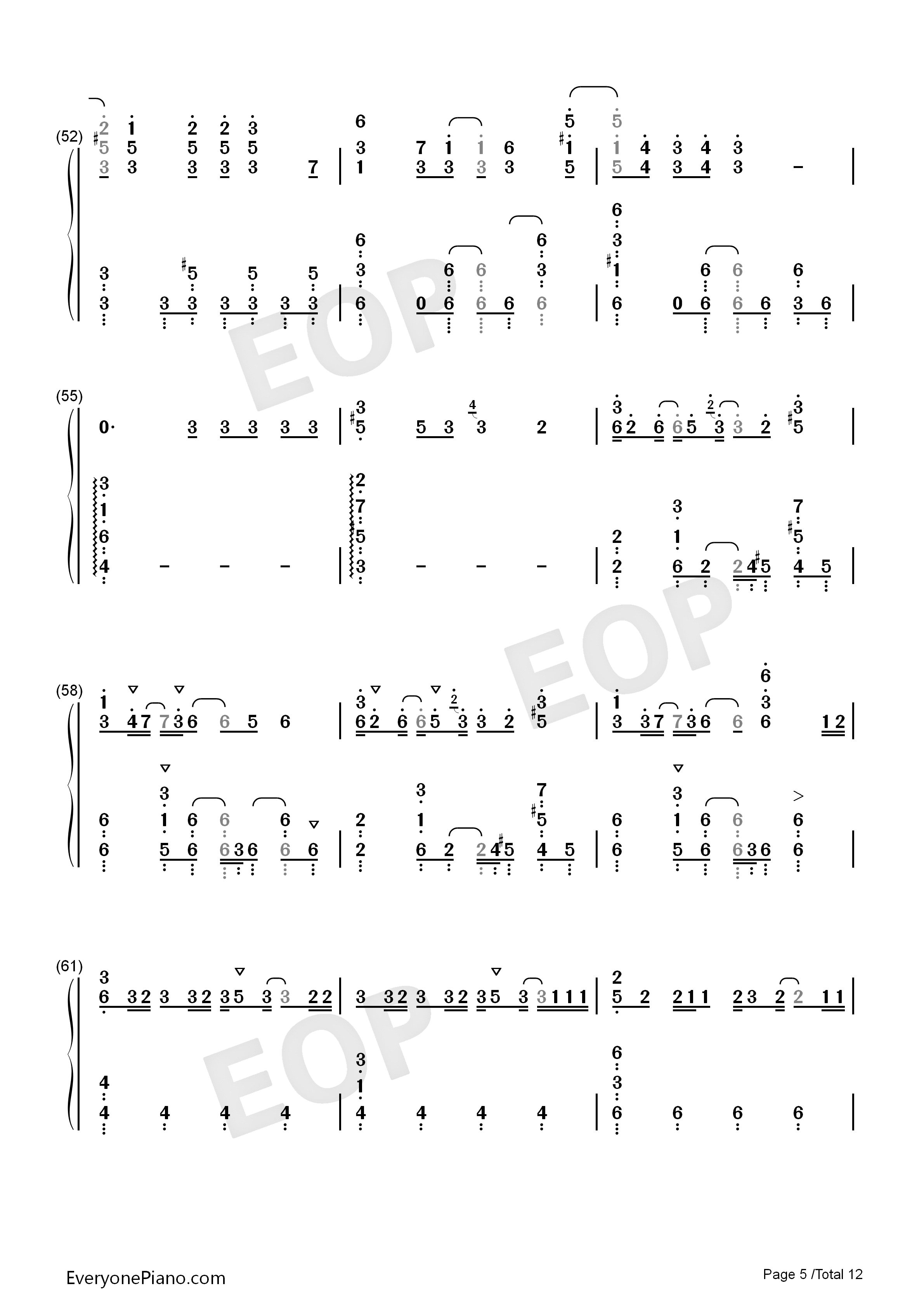 Dramaturgy-Hatsune Miku Numbered Musical Notation Preview 5