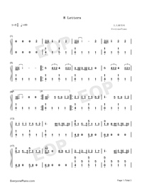 8 Letters-Why Don't We-Numbered-Musical-Notation-Preview-1