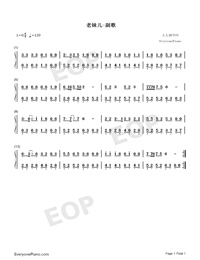 Beautiful Girl-Numbered-Musical-Notation-Preview-1