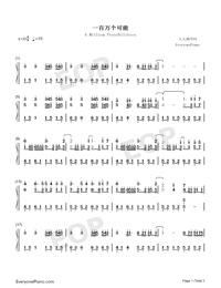 百万の可能-華麗バージョン両手略譜プレビュー1