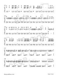 百万の可能-華麗バージョン両手略譜プレビュー2