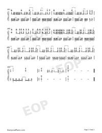 百万の可能-華麗バージョン両手略譜プレビュー3