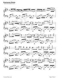 百万の可能-華麗バージョン五線譜プレビュー4