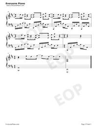 百万の可能-華麗バージョン五線譜プレビュー5