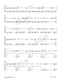 Let's Not Fall in Love-Big Bang-Numbered-Musical-Notation-Preview-3