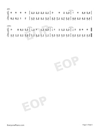 Let's Not Fall in Love-Big Bang-Numbered-Musical-Notation-Preview-5