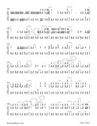 抖音神曲串燒雙手簡譜預覽2