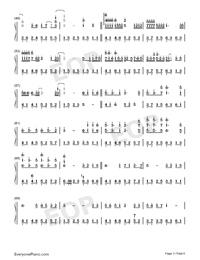 抖音神曲串燒雙手簡譜預覽3