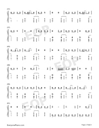 Bedtime Story-Real Girl Theme Numbered Musical Notation Preview 2