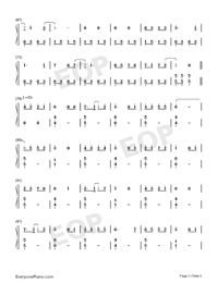 Bedtime Story-Real Girl Theme Numbered Musical Notation Preview 3