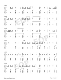 Bedtime Story-Real Girl Theme Numbered Musical Notation Preview 4