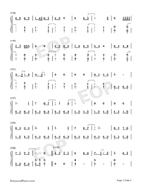 Bedtime Story-Real Girl Theme Numbered Musical Notation Preview 5