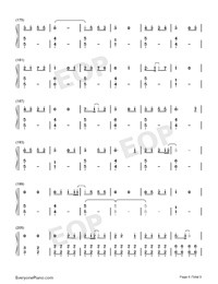 Bedtime Story-Real Girl Theme Numbered Musical Notation Preview 6
