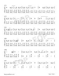 Bedtime Story-Real Girl Theme Numbered Musical Notation Preview 7