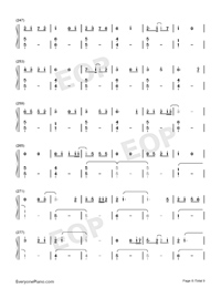 Bedtime Story-Real Girl Theme Numbered Musical Notation Preview 8