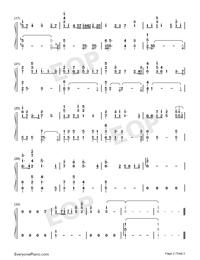 Violet's Letter-ヴァイオレット・エヴァーガーデンOST両手略譜プレビュー2