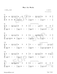 What Are Words-Original Version-Numbered-Musical-Notation-Preview-1