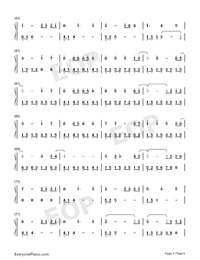 What Are Words-Original Version-Numbered-Musical-Notation-Preview-3