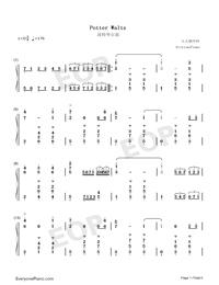 Potter Waltz-ハリー・ポッターと炎のゴブレット両手略譜プレビュー1