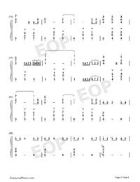 Potter Waltz-ハリー・ポッターと炎のゴブレット両手略譜プレビュー5