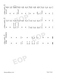 Potter Waltz-ハリー・ポッターと炎のゴブレット両手略譜プレビュー6