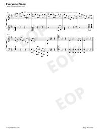 Potter Waltz-ハリー・ポッターと炎のゴブレット五線譜プレビュー4