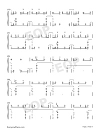 Unity-TheFatRat Numbered Musical Notation Preview 2