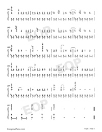 Ultraman Dyna-Ultraman Dyna Theme-Numbered-Musical-Notation-Preview-3