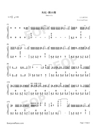 Amnesia-TikTok Song-Numbered-Musical-Notation-Preview-1